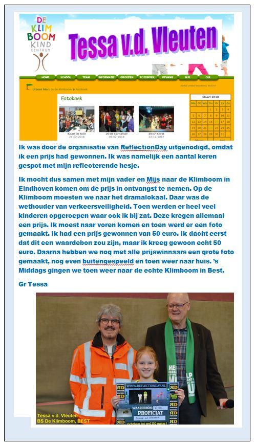 Tessa van de Vleuten Klimboom Eindhoven