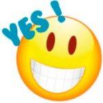 emoji gezicht blij rd zichtbaar
